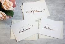 wedding photo - Foiled Bridesmaid Proposal Postcard - Will You Be My Bridesmaid Card - Maid of Honour Card - Chief Bridesmaid Card - Rose Gold-Silver-Gold