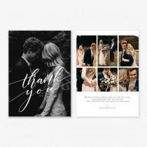 wedding photo - Wedding Thank you Card Template for Photographers, Wedding Photography - Photoshop Templates - Wedding Thank you Card - TK020