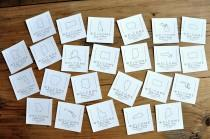 wedding photo - State Cards for Welcome Bags or Welcome Boxes. Set of 10 or More.   Crafted in 3-6 Business Days.  Personalized Welcome Tags.