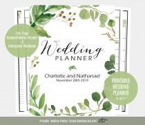 wedding photo - Wedding Planner, Greenery Wedding Planner, Printable Instant Download, DIY planning Organiser, WLP513