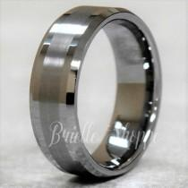 wedding photo - Men's Tungsten Ring, Tungsten Ring, Men's Tungsten Band, Tungsten Wedding Ring, Men's Ring, Tungsten, Silver Men's Ring, Personalized Ring