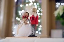 wedding photo - Holiday Wedding Cake Topper