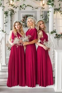 wedding photo - Bridesmaid Dress // Infinity Dress // Convertible Dress // Wrap Dress // Prom Dress // Multiway Dress // Party Dress //Ship from New York