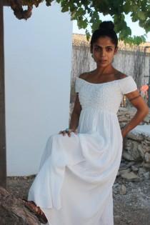 wedding photo - The long white Ibiza dress