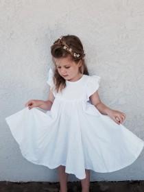 wedding photo - Pure white linen 'Savanna' dress or top