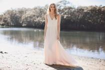 wedding photo - Classic V neck wedding gown