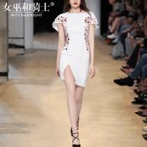 wedding photo - Vogue Slimming Scoop Neck Short Sleeves One Color Fancy Dress Skirt - Bonny YZOZO Boutique Store