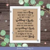 wedding photo - Dont Say Bride, Bridal Shower Game, Printable Rustic Games, Bridal Shower Games & Activities, Party Games, Rustic, Kraft, Instant Download