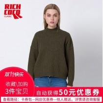 wedding photo - Must-have Oversized Vogue Simple High Neck Winter 9/10 Sleeves Knitted Sweater Top Sweater - Bonny YZOZO Boutique Store