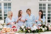 wedding photo - Bridesmaid Robes // Bridal Robe // Bride Robe // Bridal Party Robes // Bridesmaid Gift // Robe // Floral Robes