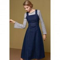 wedding photo - New color for fall/winter open-style bandage high waist denim skirt overalls dress 8056 - Bonny YZOZO Boutique Store