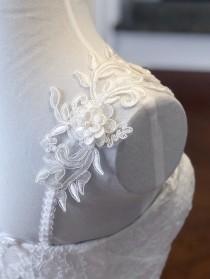 wedding photo - Detachable Cap Sleeves , Detachable Wedding Dress Sleeves,Bridal Straps , Detachable Wedding Dress Strapes, Removable Bridal Sleeves