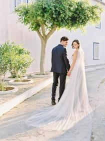 wedding photo - cathedral veil, long wedding veil, cathedral length bridal veil, english net veil, ivory wedding veil, chapel veil, soft veil -TALITHA
