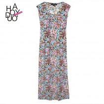 wedding photo - Vogue Printed Scoop Neck Sleeveless Summer Dress - Bonny YZOZO Boutique Store