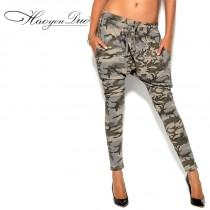 wedding photo - Army Style Army Low Rise Chic Harem Pant Skinny Jean Casual Trouser - Bonny YZOZO Boutique Store