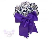 wedding photo - Customizable Purple Lollipop Bridal Bouquet, Purple Wedding Bouquet, Purple Wedding, Purple Bridal Bouquet, Wedding Bouquet, Candy Bouquet