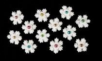 wedding photo - Frosty Colorful Snowflakes-Fondant Edible Snowflakes-Set of 12, Cake Toppers, Christmas Cake Decorations, Winter Cupcake Toppers