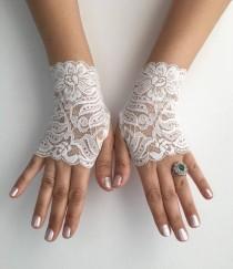 wedding photo - Wedding Gloves, Ivory lace gloves, Handmade gloves, Goth bride glove bridal gloves lace gloves fingerless gloves, Steampunk