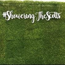 wedding photo - 6 ft Hashtag Sign - hedge wall backdrop sign - greenery wall sign