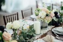 wedding photo - Eucalyptus garland, FRESH, silver dollar and seeded eucalyptus table runner, mixed eucalyptus, greenery garland, greenery table centerpiece