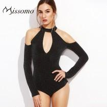 wedding photo - Sexy Slimming Off-the-Shoulder Long Sleeves One Color Jumpsuit Underwear - Bonny YZOZO Boutique Store