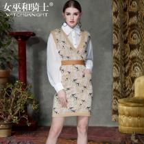wedding photo - Slimming Jersey Wool Spring 9/10 Sleeves Twinset Dress Top - Bonny YZOZO Boutique Store