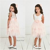 wedding photo - Blush pink flower girl dress, Rustic Lace Flower Girl Dress,Baby dress,lace flower girl dress , flower girls dresses,Blush flower girl dress