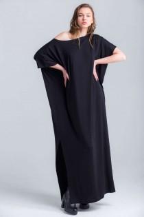 wedding photo - Black Maxi Dress , Oversized Dress , Infinity Dress , Plus Size Dress , Party Dress A0027