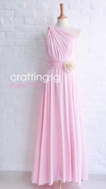 wedding photo - Bridesmaid Dress Pastel Pink Maxi Floor Length, Infinity Dress, Prom Dress, Multiway Dress, Convertible Dress, Maternity - 26 colors