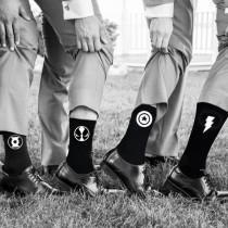 wedding photo - Superhero Wedding Socks Groom Socks Bestman Groomsmen