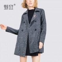 4cd44b804d2 New 2017 winter woolen cloth women s intellectual temperament professional  women slim cropped wool jacket lapel coat - Bonny YZOZO Boutique Store