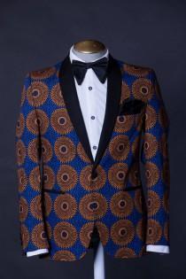 wedding photo - DonOmer Blazer. African print blazer men, men's African blazers, Ankara blazer men, kente blazer men, African fashion men, African style men