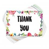 wedding photo - New Floral Thank You Cards Postcards Notes Pads for Adults Men Ladies
