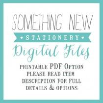 wedding photo - Printable Personalised Stationery - DIY OPTION PDF Files only