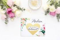 wedding photo - Will you be my bridesmaid card, bridesmaid proposal card, be my maid of honor, bridesmaid card, be my bridesmaid, bridesmaid proposal