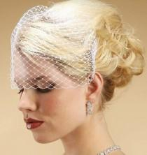 wedding photo - French Netting Birdcage Visor Bandeau Veil! (Short Length)  FREE DOMESTIC SHIPPING!