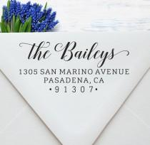 wedding photo - Custom Address Stamp, Self Inking Return Address Stamp, Calligraphy Address Stamp, Return Address Stamp, A44