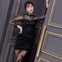 wedding photo - Sexy Seen Through Split Front Slimming Lace Dress - Bonny YZOZO Boutique Store