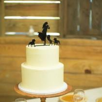 wedding photo - Wedding Cake Topper with Pet Dog, Silhouette Cake Topper, Groom Lifting Up Bride Wedding Cake Topper Dog Bulldog PitBull Bulldog MADE In USA