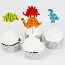 wedding photo - Dinosaur Theme Party - Cupcake topper