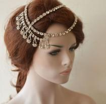 wedding photo - Wedding Hair Accessory, Bridal Hair Piece, Wedding Headpiece, Wedding Hair Accessories, Crystal Bridal Headband, Wedding Head Piece  Bride