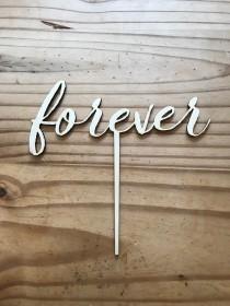 wedding photo - Forever Cake Topper
