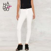 wedding photo - Must-have Simple Slimming White Skinny Jean Pencil Trouser Casual Trouser Long Trouser - Bonny YZOZO Boutique Store