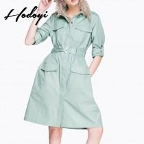 wedding photo - Must-have Vogue Slimming High Waisted Pocket One Color Fall Coat - Bonny YZOZO Boutique Store