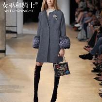 wedding photo - Attractive Slimming Wool Winter 9/10 Sleeves Wool Coat Overcoat - Bonny YZOZO Boutique Store