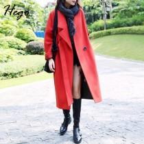 wedding photo - Vintage Attractive Polo Collar Wool Overcoat Coat - Bonny YZOZO Boutique Store