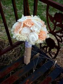 wedding photo - Peach and cream bouquet
