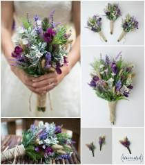wedding photo - wildflower bouquet, bridal bouquet, wedding flowers, artificial wedding bouquet, wedding bouquet, bridesmaid bouquet, wedding bouquet set