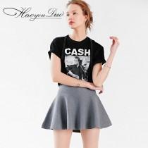 wedding photo - Oversized Printed Scoop Neck Short Sleeves T-shirt - Bonny YZOZO Boutique Store