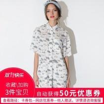 wedding photo - Navy Style Printed Cartoon Cute Short Sleeves Blouse Dress - Bonny YZOZO Boutique Store